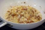 Pancetta, onions and garlic simmering away