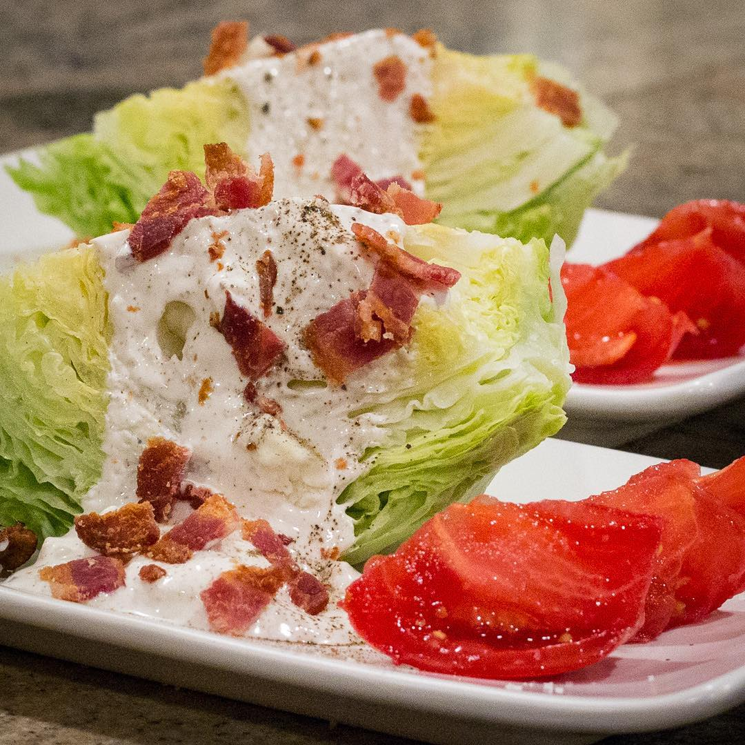 Steak House Style Iceberg Wedge Salad