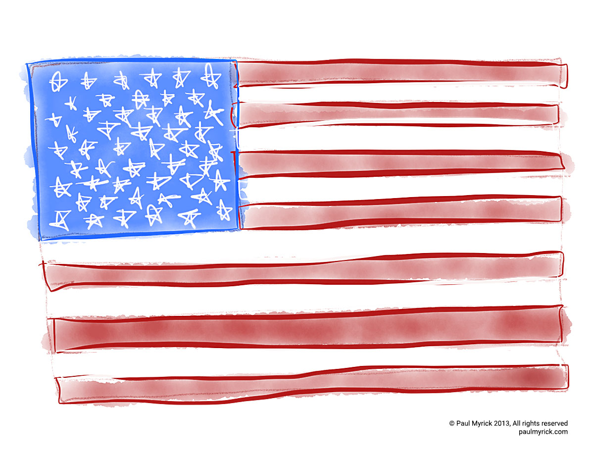 American Flag by Paul Myrick