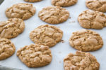 Flour-less peanut butter cookies right out of the oven
