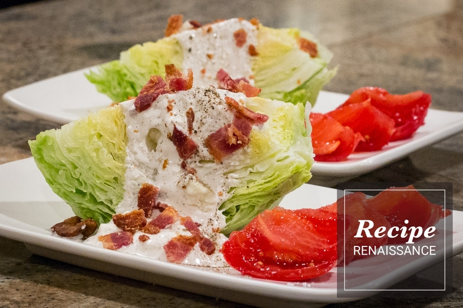 Steak House Style Iceberg Wedge Salad Recipe