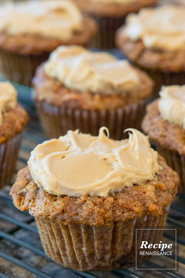 Carrot Cupcakes With Molasses Cream Cheese Frosting Recipe