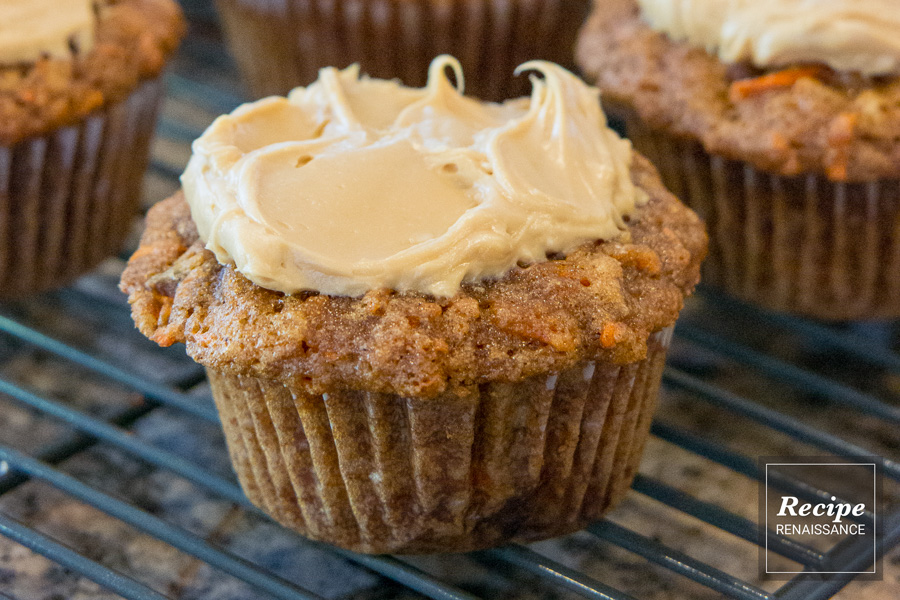 Carrot Cupcakes With Molasses Cream Cheese Frosting