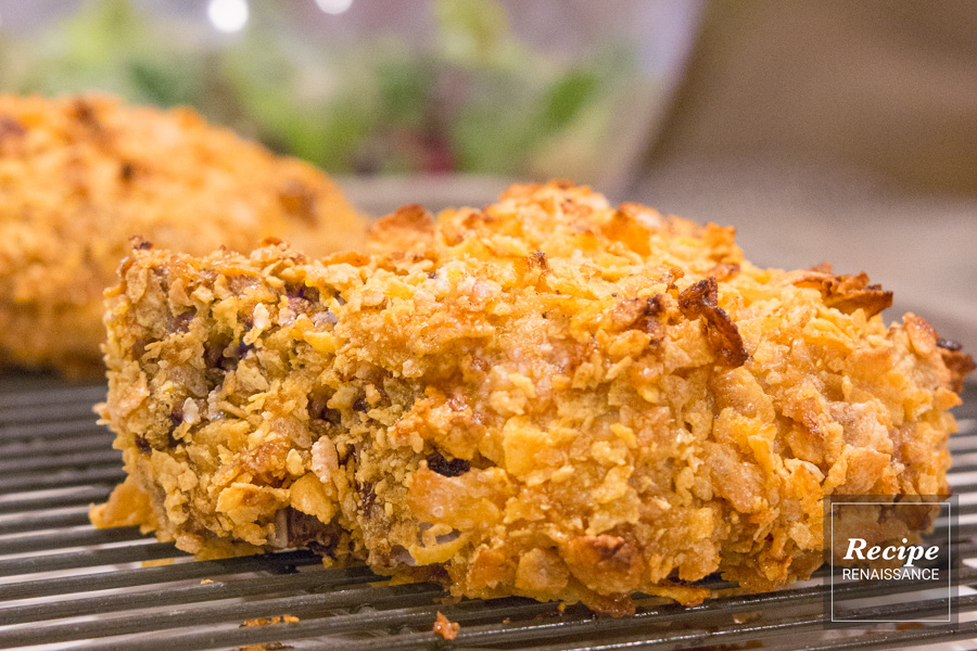 Easy Corn Flake Crusted Oven Baked Pork Chops