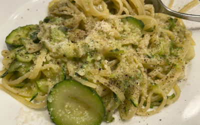 Pasta With Sautéed Zucchini And Garlic For One